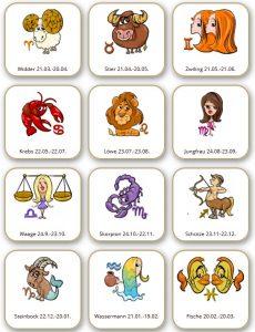 Horoskop-Sternzeichen